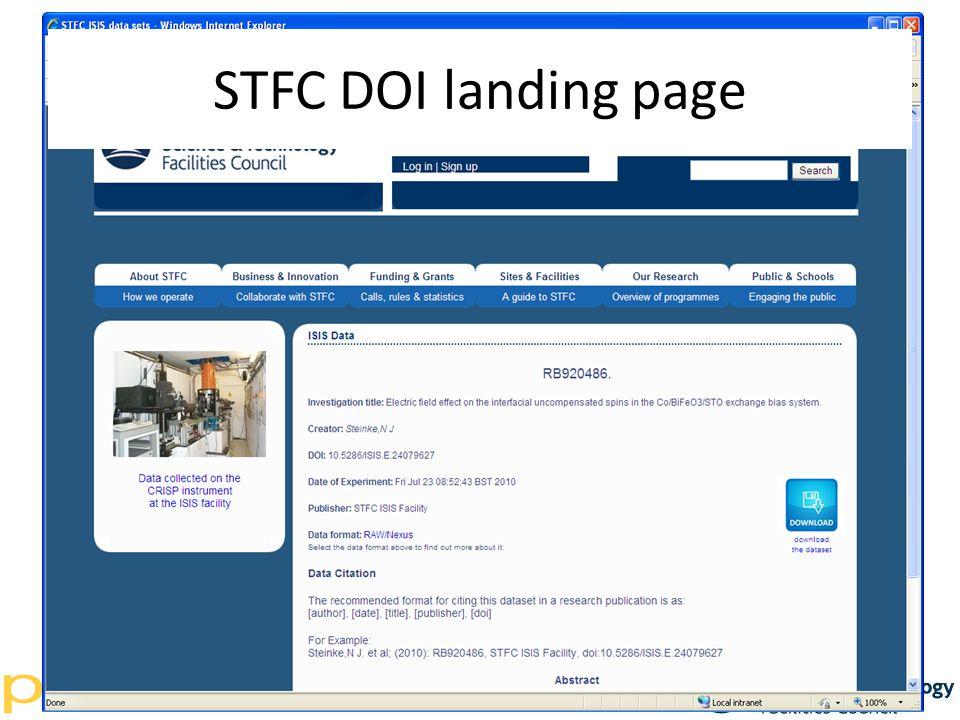 STFC DOI landing page