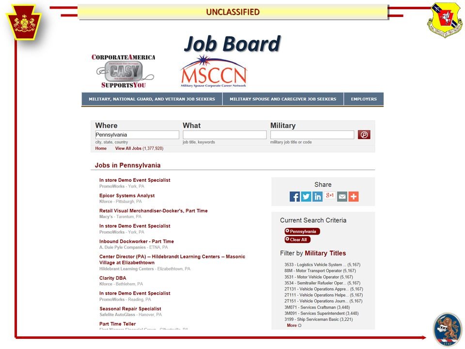 UNCLASSIFIEDUNCLASSIFIED Job Board