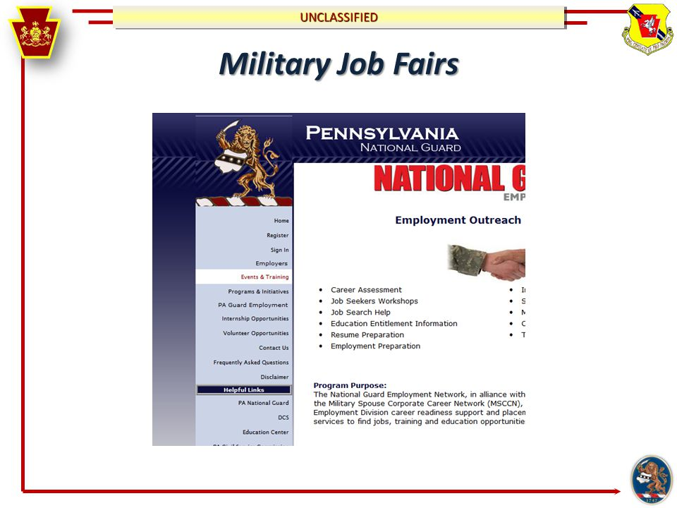 UNCLASSIFIEDUNCLASSIFIED Military Job Fairs