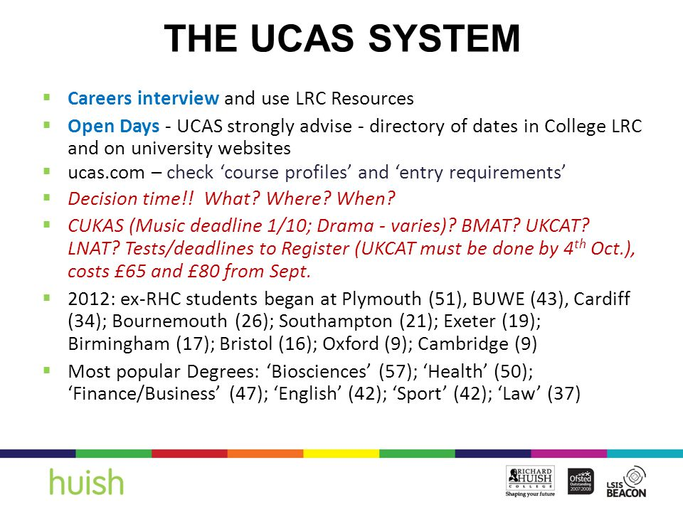  Contact disability officer  UCAS application form disclosure  Specific evidence required which you may need to pay for  Ask Student Services WILL YOUR CHILD NEED SPECIFIC SUPPORT IN THEIR U6.