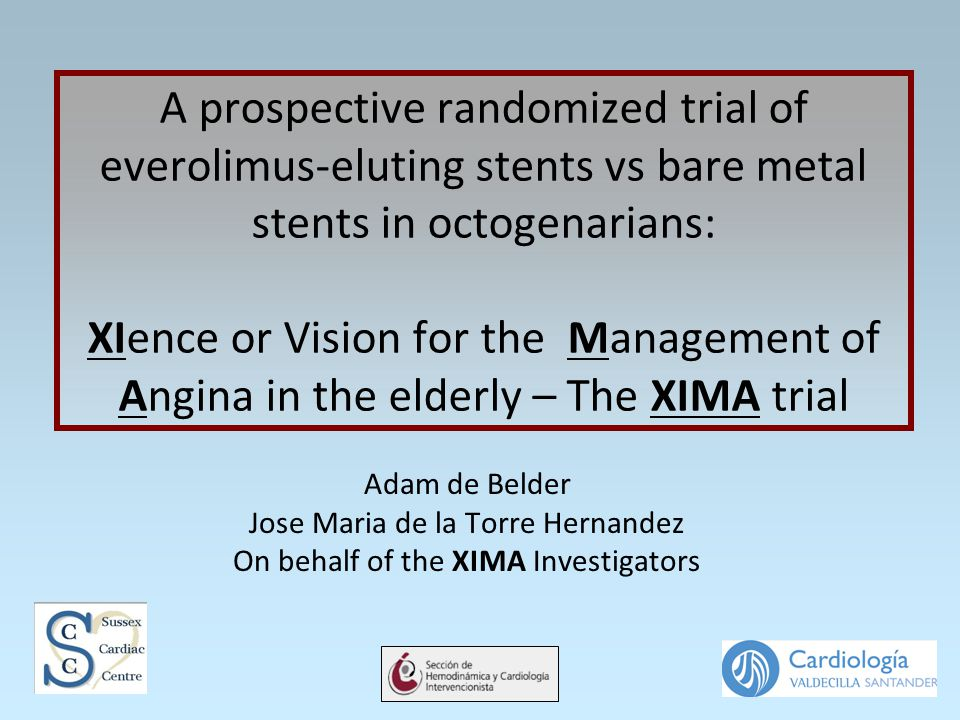 A prospective randomized trial of everolimus-eluting stents vs bare metal stents in octogenarians: XIence or Vision for the Management of Angina in th