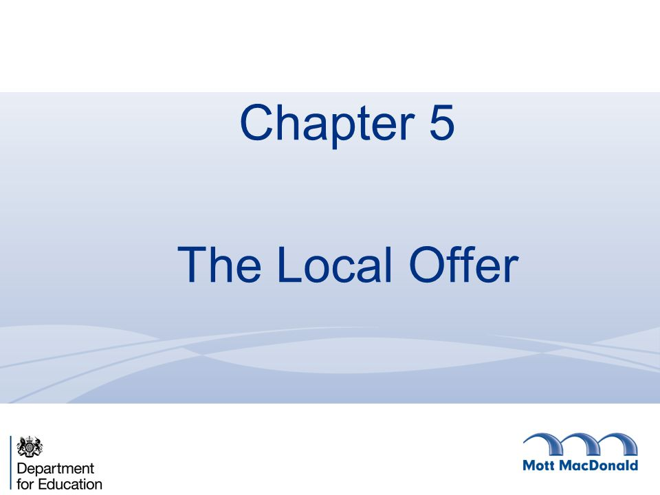 Chapter 5 The Local Offer