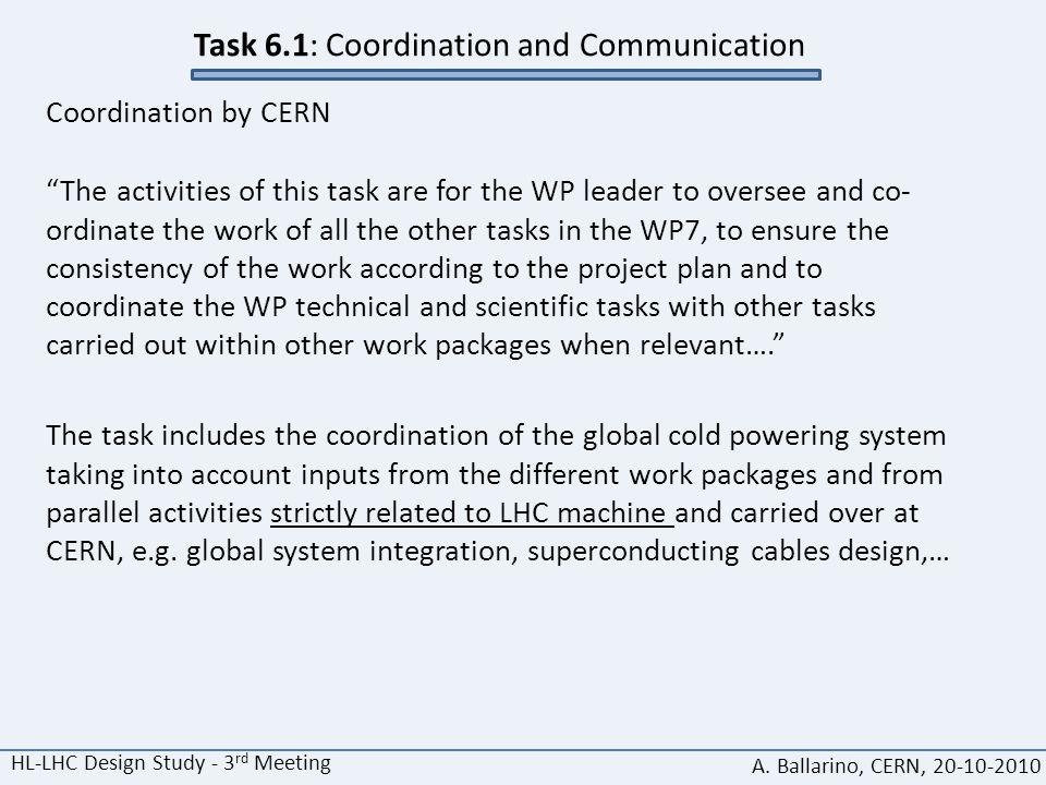 HL-LHC Design Study - 3 rd Meeting A.