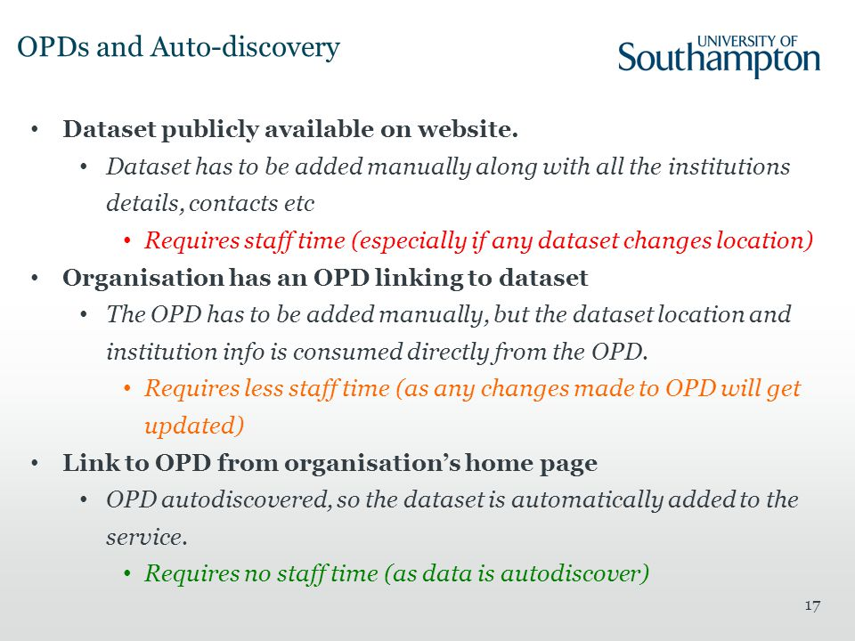 OPDs and Auto-discovery 17 Dataset publicly available on website.