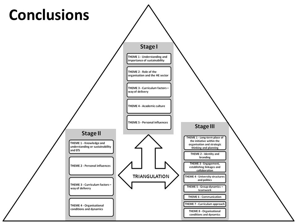 Conclusions TRIANGULATION