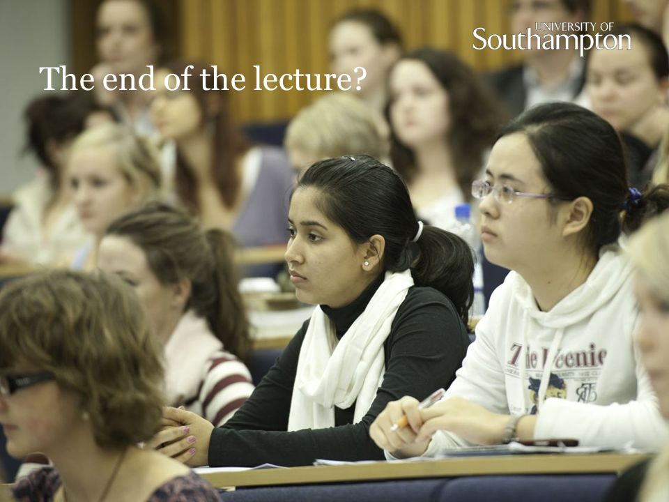 The end of the lecture