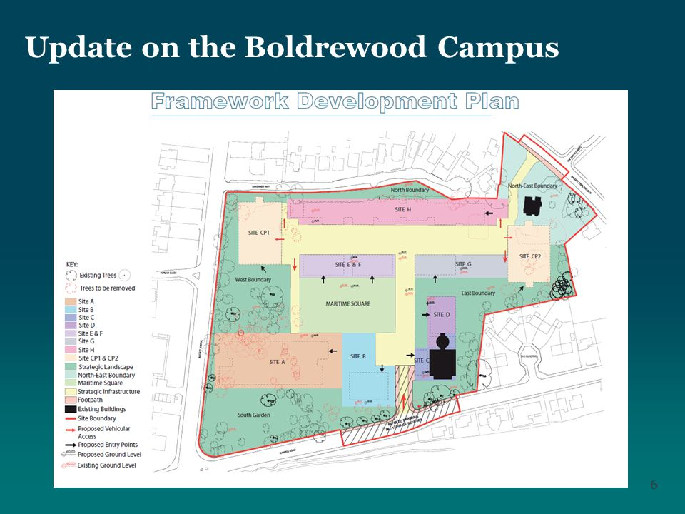 66 Update on the Boldrewood Campus