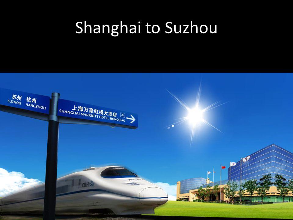 Shanghai to Suzhou