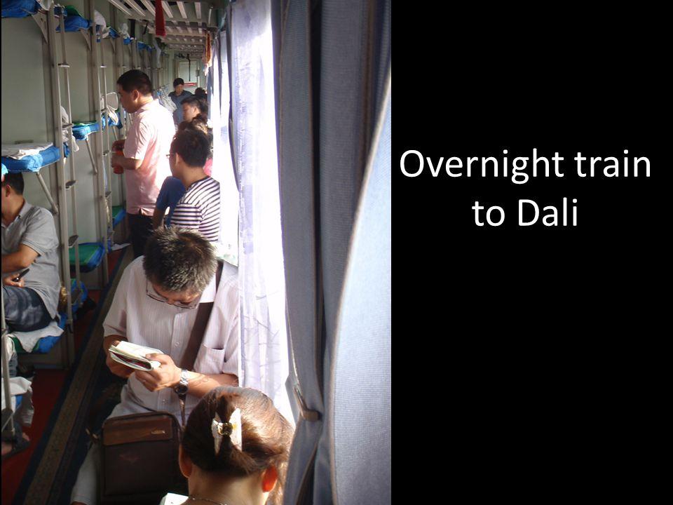 Overnight train to Dali