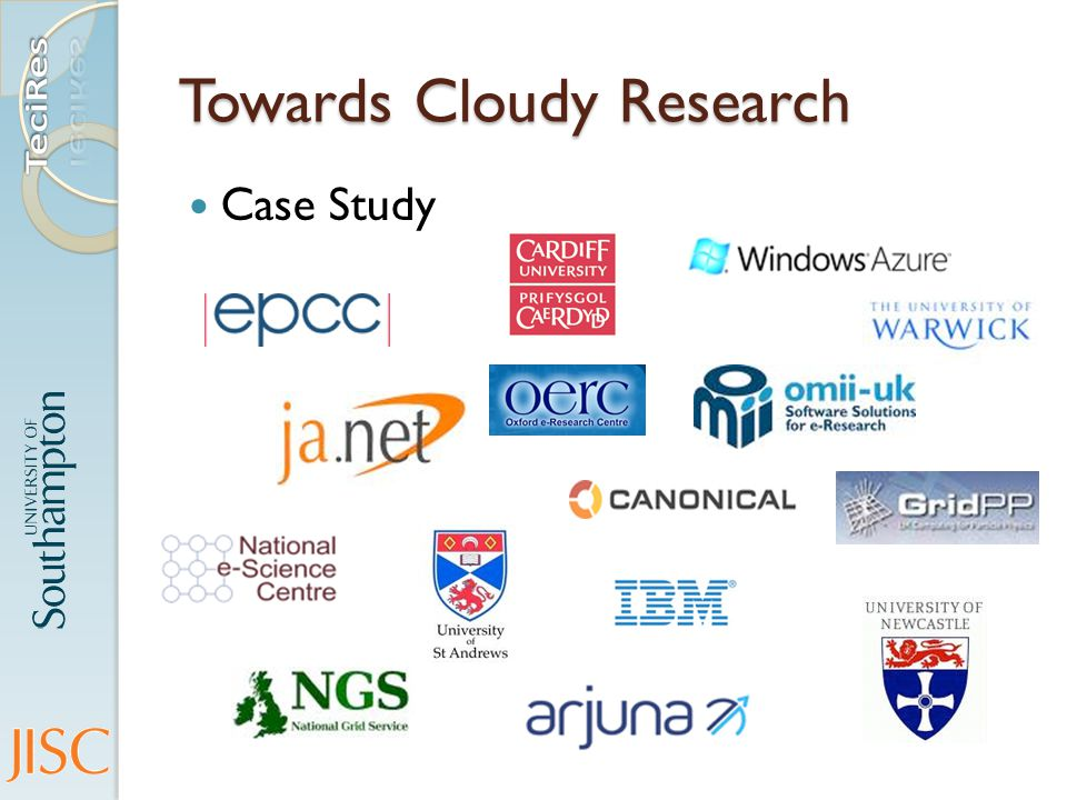 Towards Cloudy Research Case Study