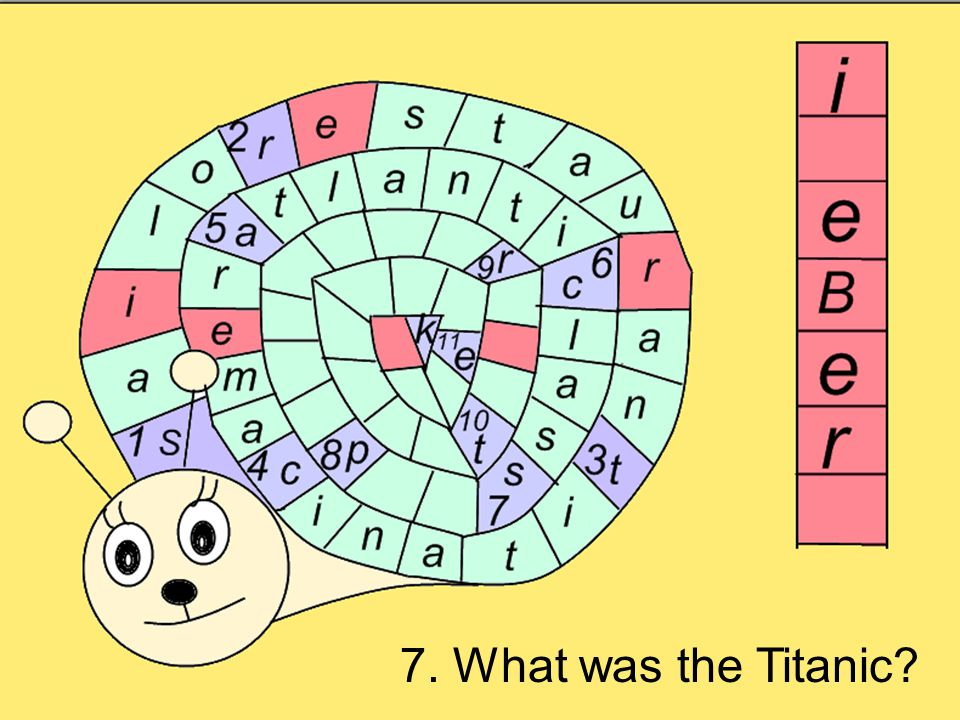 7. What was the Titanic