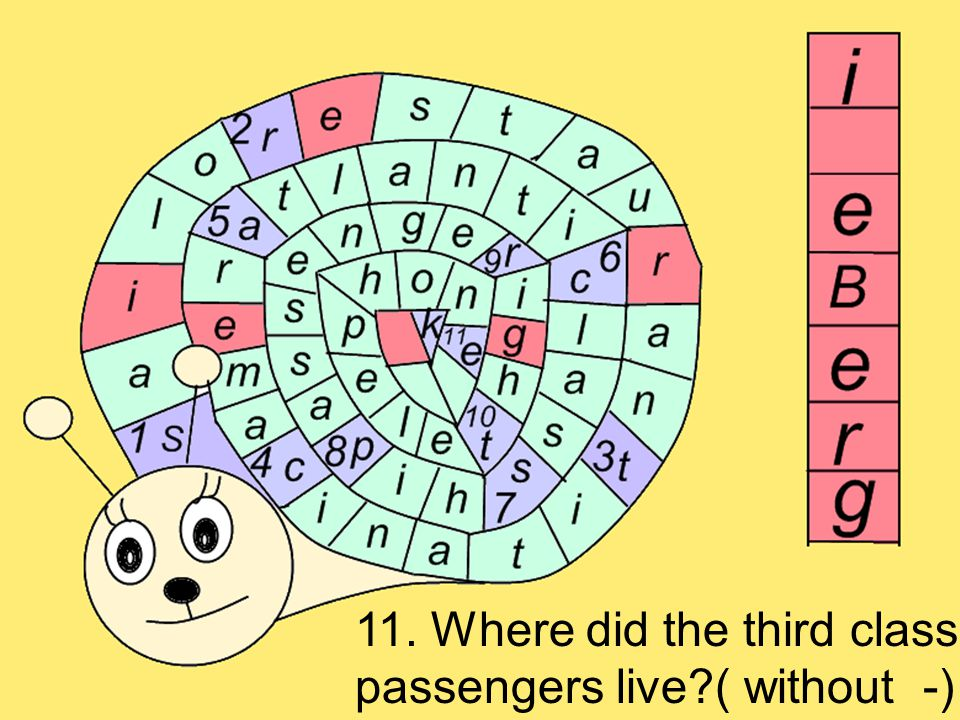 11. Where did the third class passengers live ( without -)