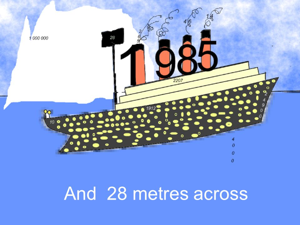 And 28 metres across