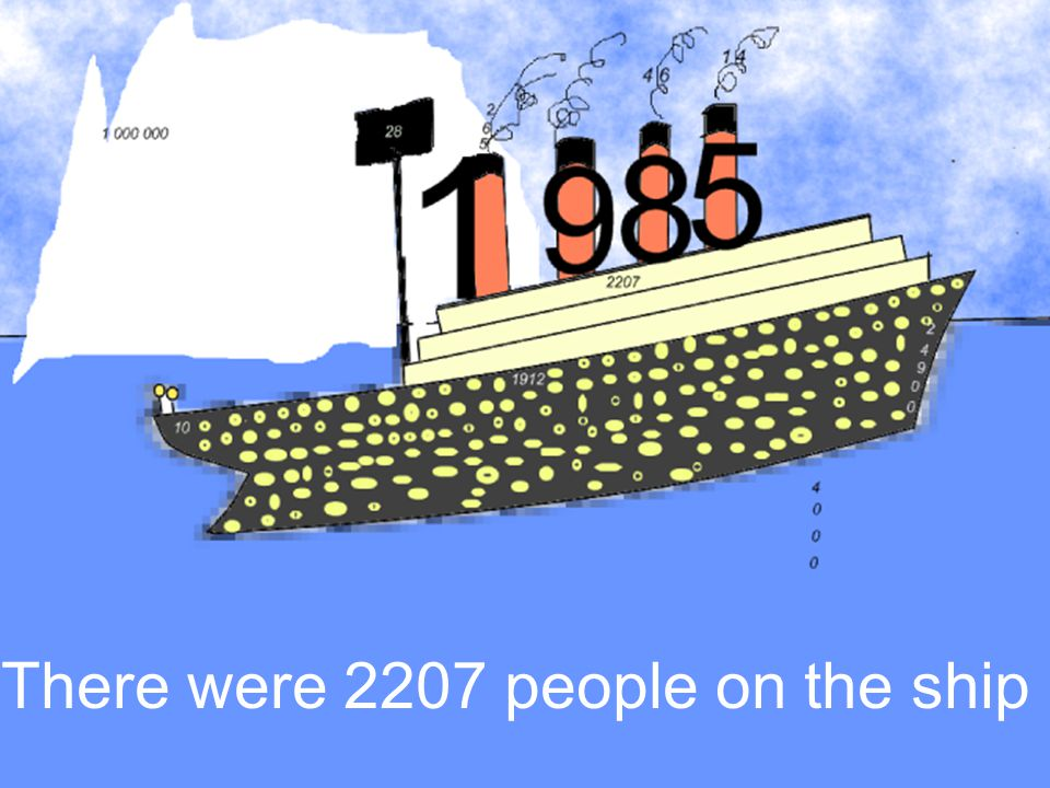 There were 2207 people on the ship