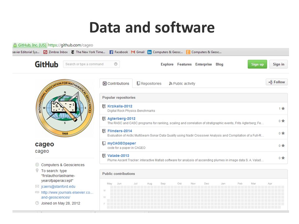 Data and software