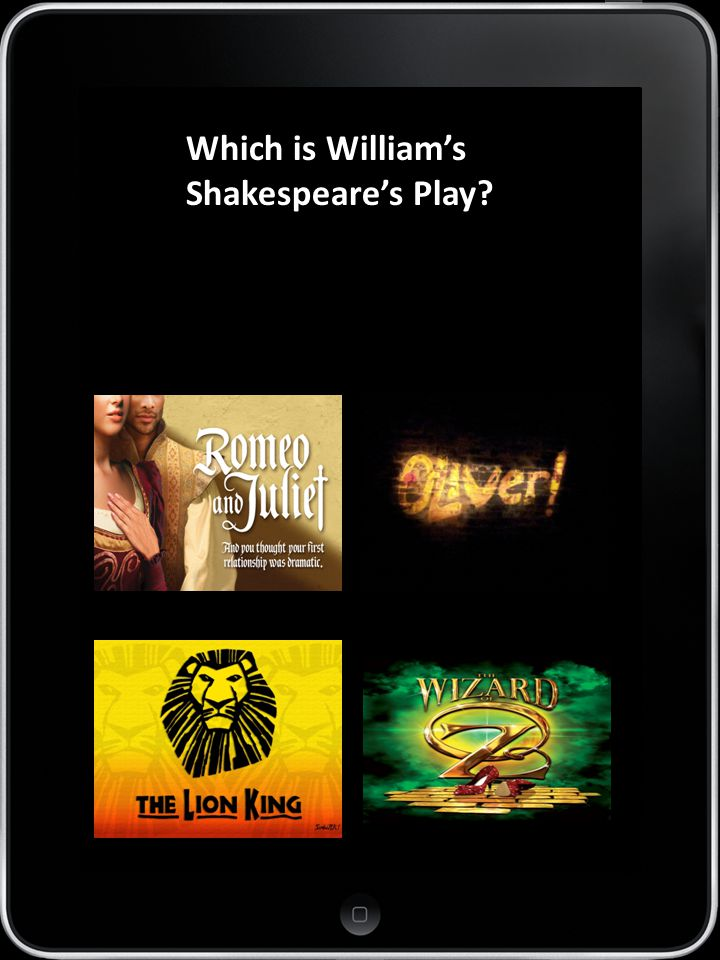 APP 7 Which is William's Shakespeare's Play