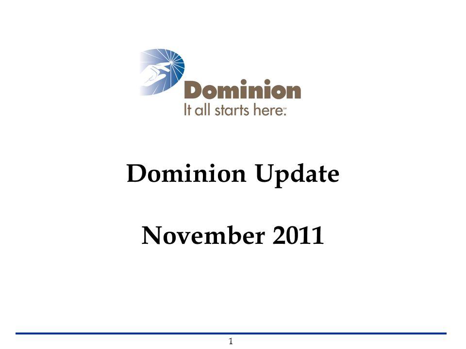 Dominion Update November 2011 1