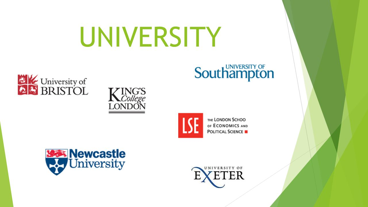 Russell Group Universities  24 universities in the group  High levels of academic excellence  Research intensive  Outstanding teaching  Offer a wide range of courses