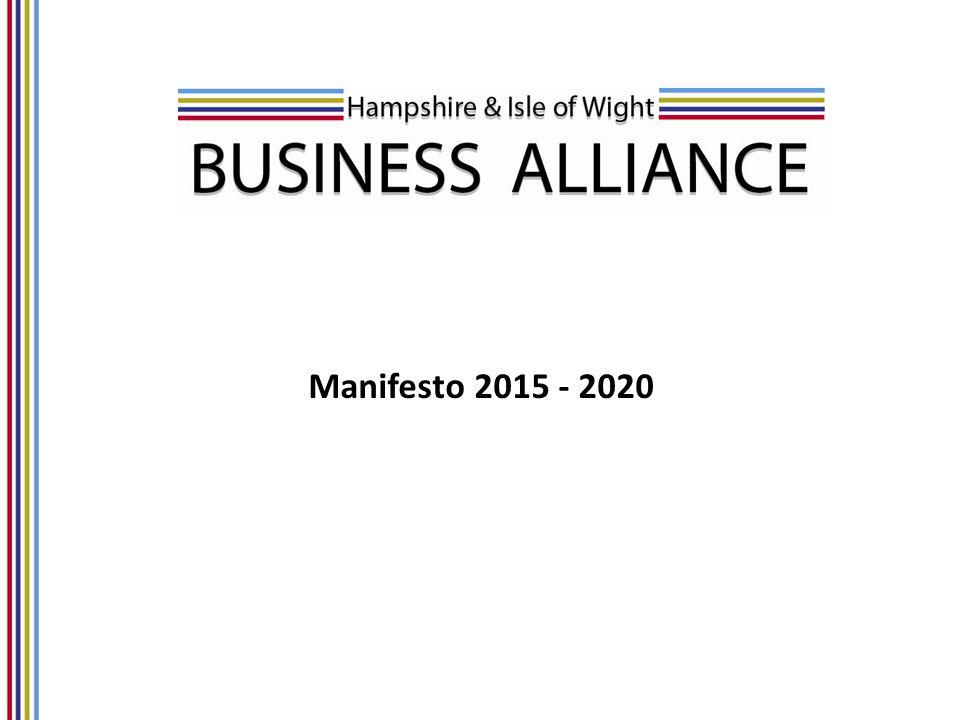 Manifesto 2015 - 2020