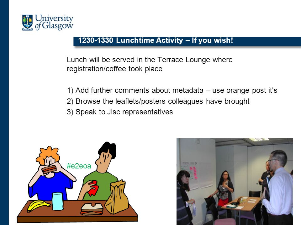 1230-1330 Lunchtime Activity – If you wish.