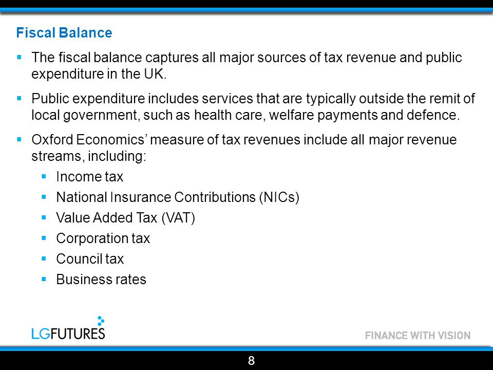 Fiscal Balance  An earlier study by Oxford Economics (London's Finances and Revenues) included a breakdown of the South East's tax revenues in 2010/11.