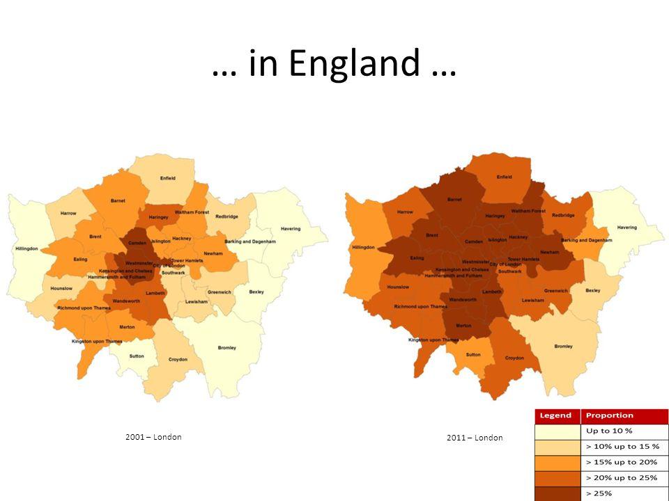 … in England … 2001 – London 2011 – London
