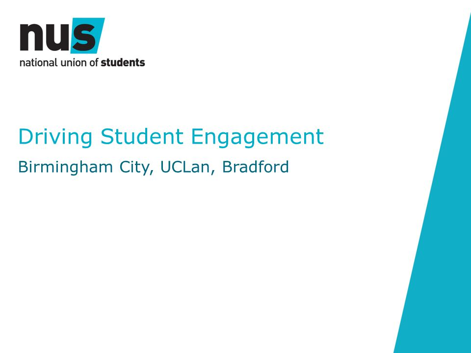 Driving Student Engagement Birmingham City, UCLan, Bradford