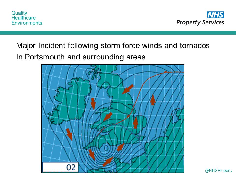 @NHSProperty Major Incident following storm force winds and tornados In Portsmouth and surrounding areas