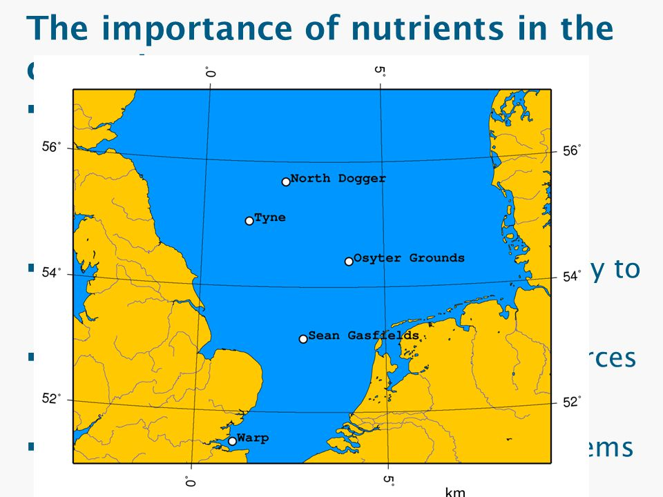 The importance of nutrients in the coastal ocean  Shelf seas: – Globally important sinks & sources for nutrients – High rates of primary productivity