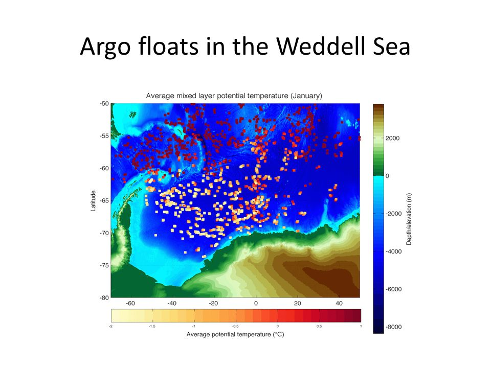 Argo floats in the Weddell Sea