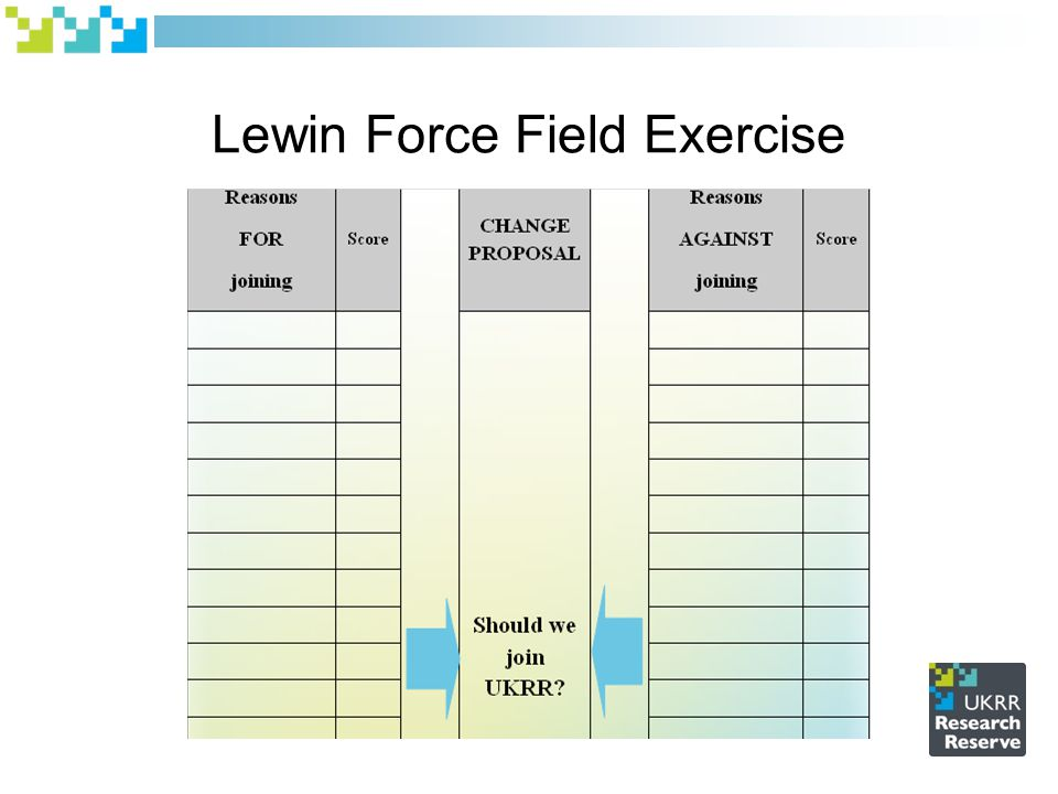Lewin Force Field Exercise