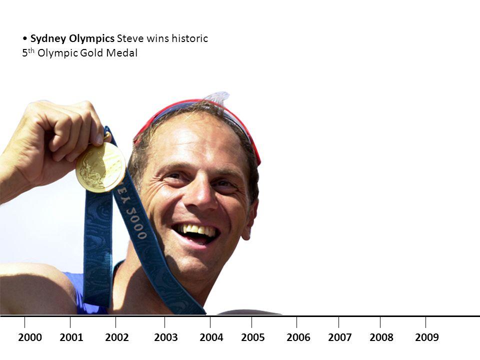 Sydney Olympics Steve wins historic 5 th Olympic Gold Medal 2000200120042003200220052006200720082009