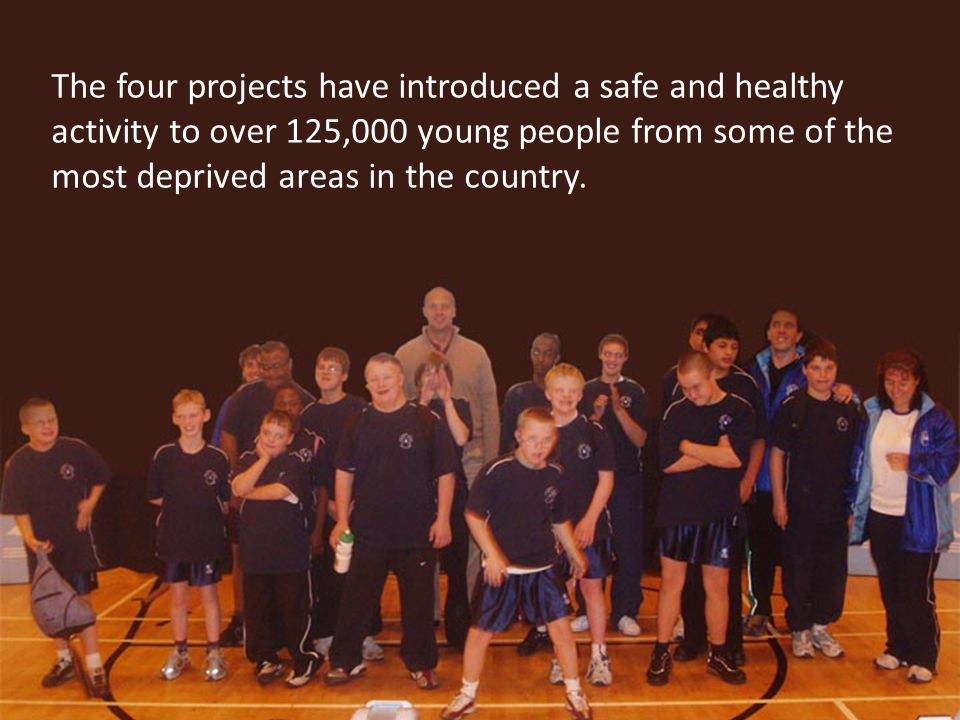 The four projects have introduced a safe and healthy activity to over 125,000 young people from some of the most deprived areas in the country.