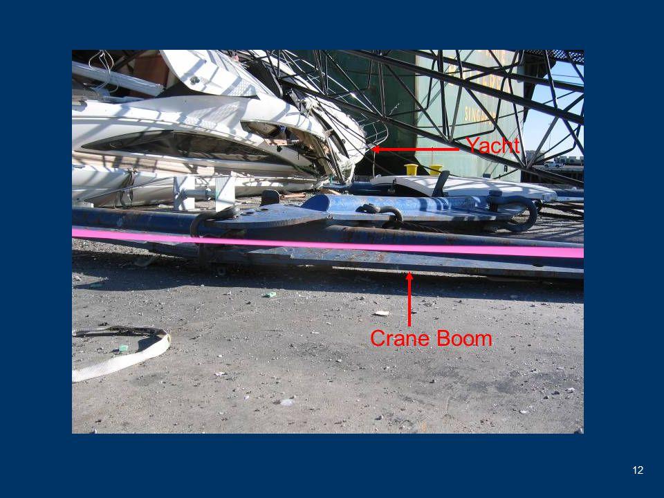 12 Crane Boom Yacht