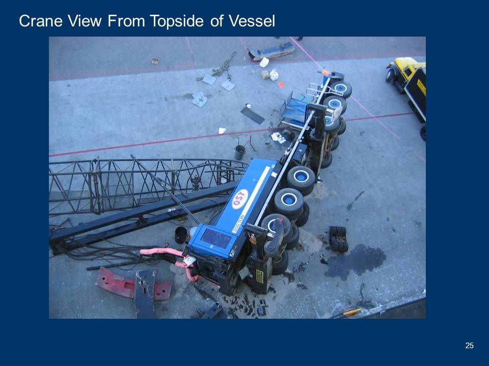 25 300 Ton Crane Yacht Crane View From Topside of Vessel