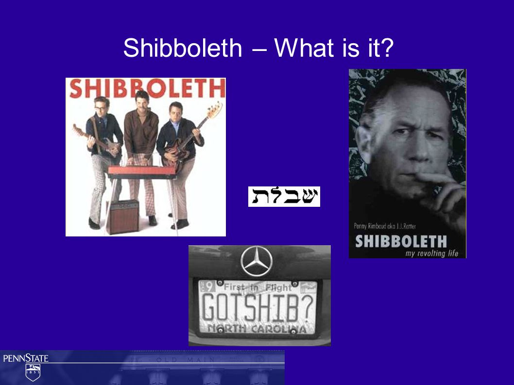 Shibboleth – What is it