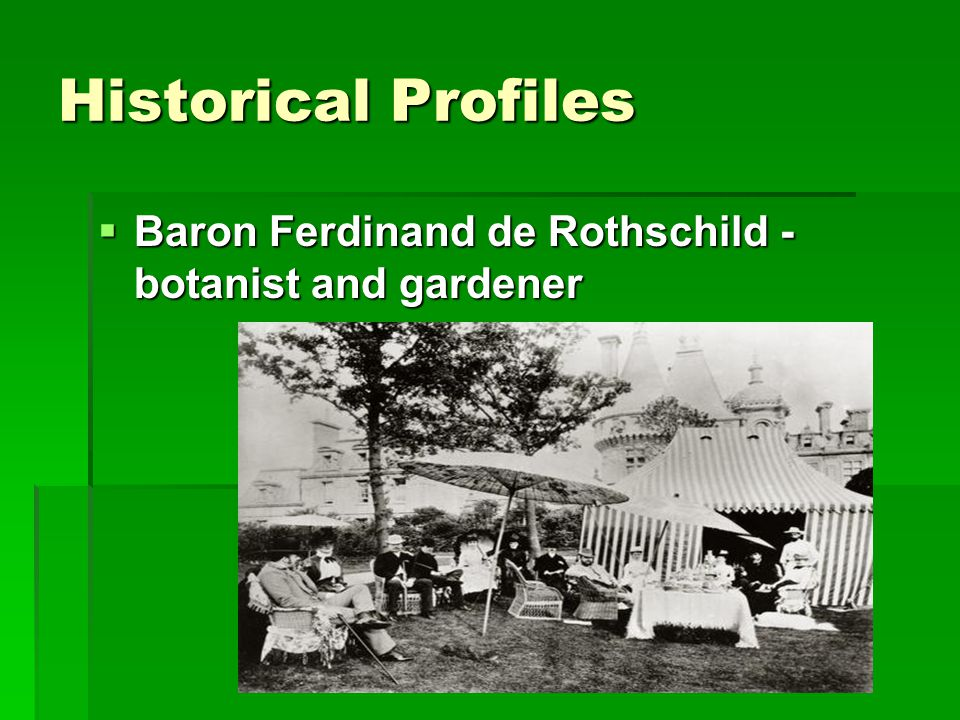 Historical Profiles  Baron Ferdinand de Rothschild - botanist and gardener