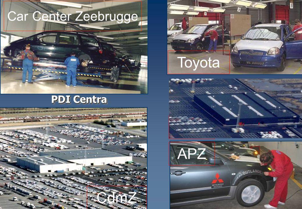 Car Center Zeebrugge CdmZ Toyota APZ PDI Centra ICO