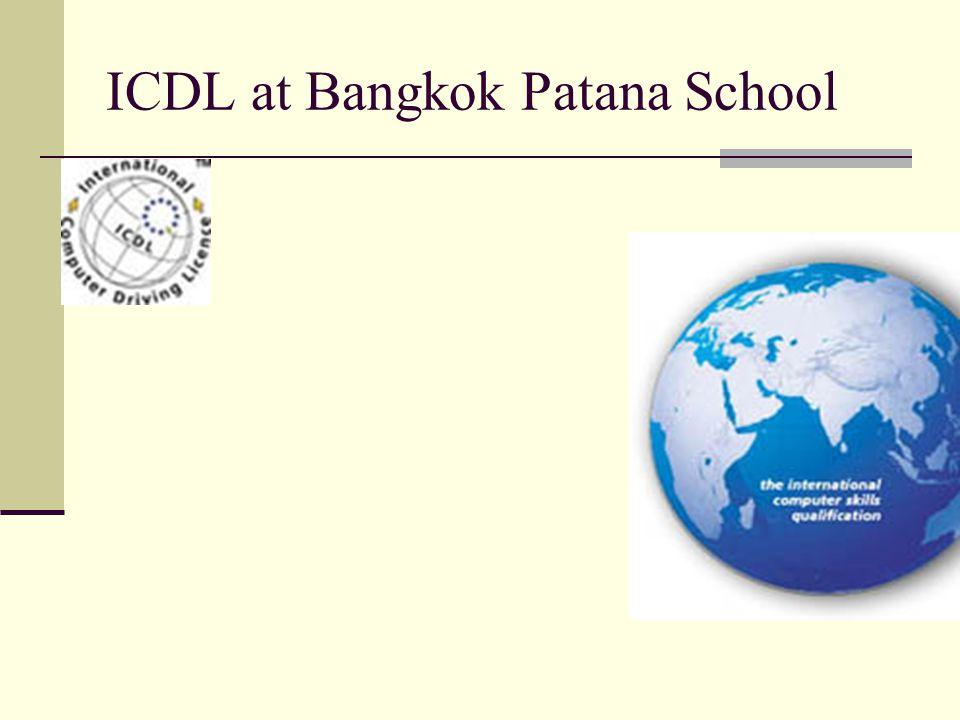 ICDL at Bangkok Patana School