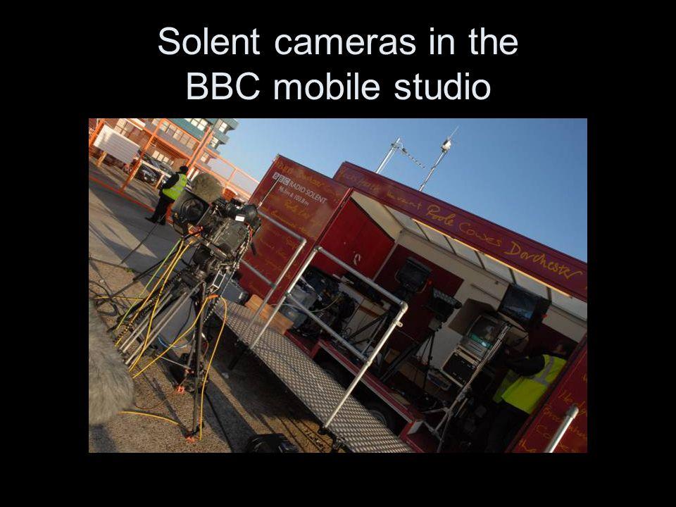 Solent cameras in the BBC mobile studio