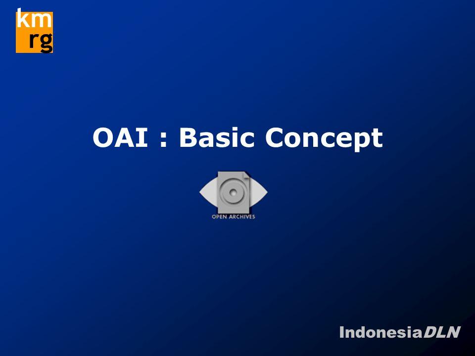 IndonesiaDLN km rg OAI : Basic Concept