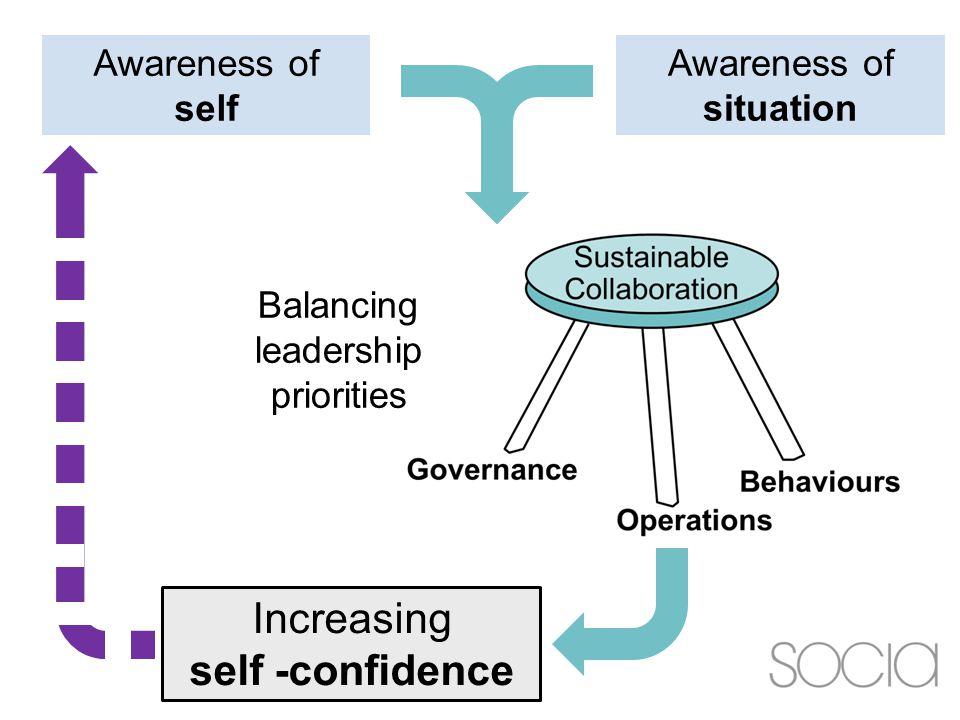 Awareness of self Awareness of situation Balancing leadership priorities Increasing self -confidence