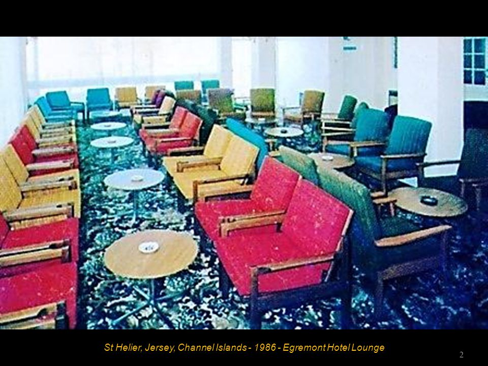 St Helier, Jersey, Channel Islands - 1986 - Egremont Hotel Reception Lounge 1