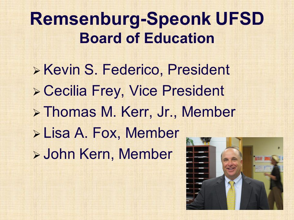 Remsenburg-Speonk UFSD Board Vacancies Two candidates are running for one position for a three-year term: July 1, 2011 to June 30, 2014 Deirdre DeVita Kerry Horton