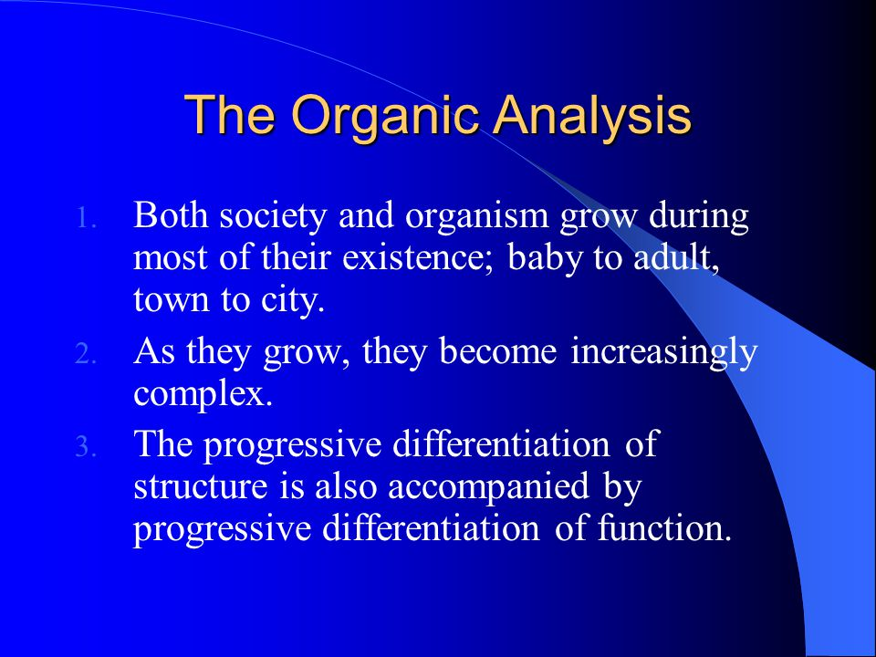 The Organic Analysis 1.