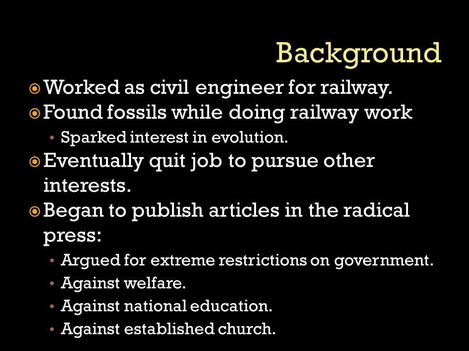  Worked as civil engineer for railway.