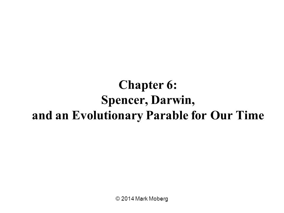 Chapter 6: Spencer, Darwin, and an Evolutionary Parable for Our Time © 2014 Mark Moberg