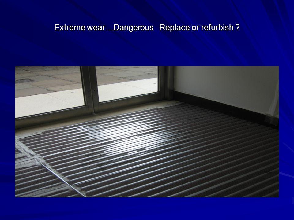 Extreme wear…Dangerous Replace or refurbish