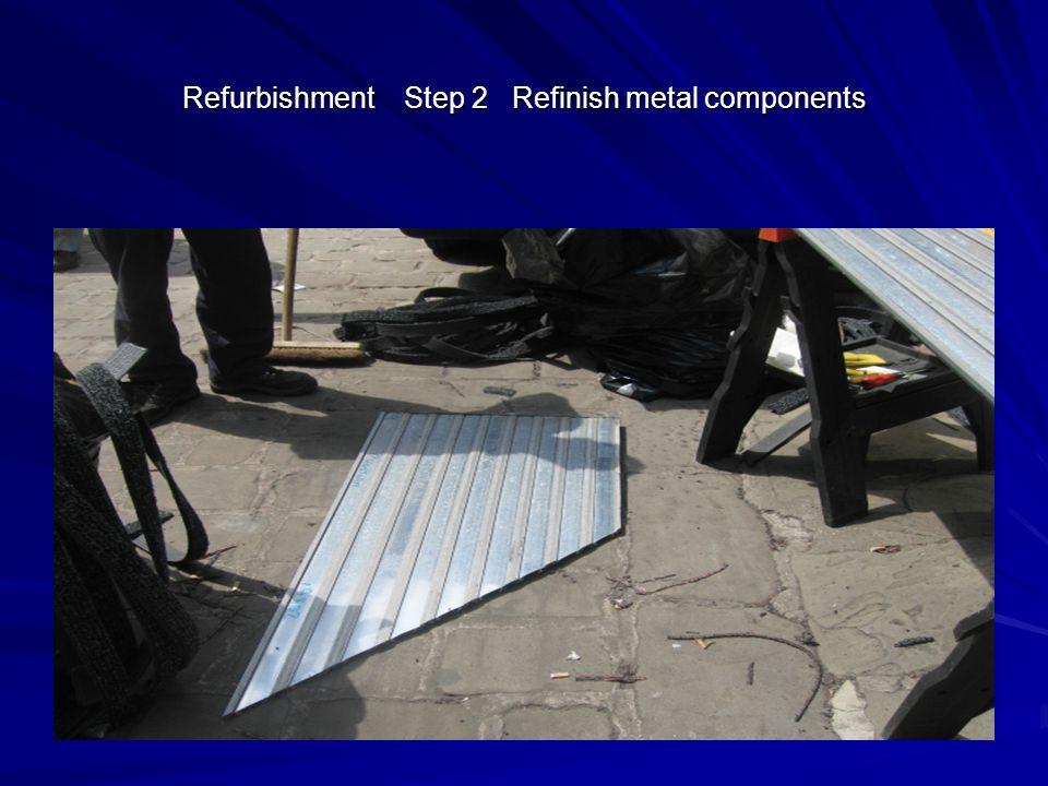 Refurbishment Step 2 Refinish metal components