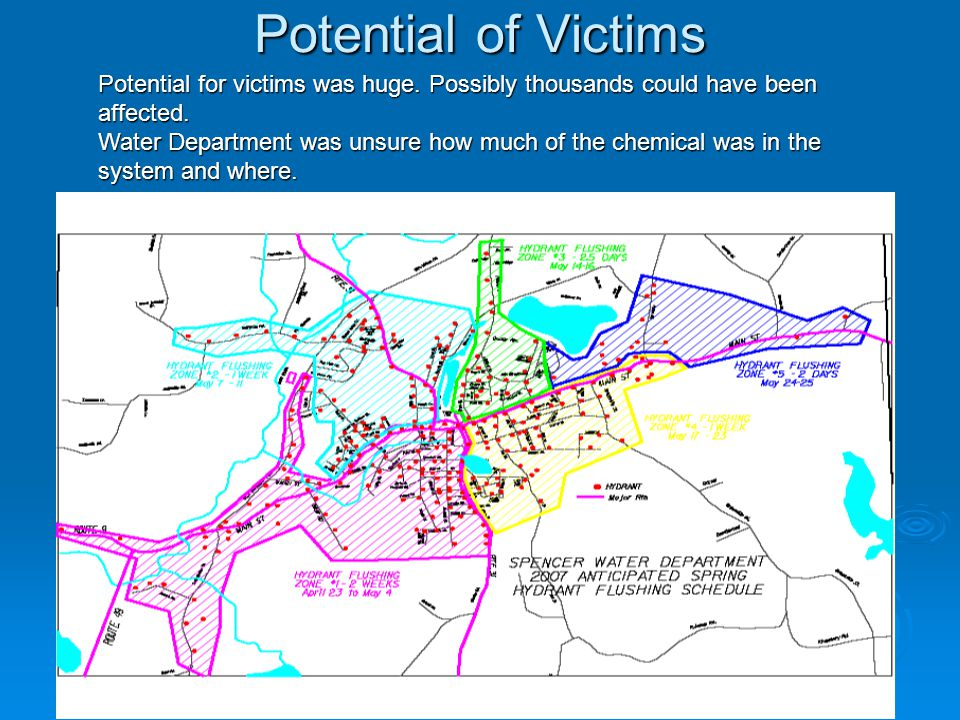 Potential of Victims Potential for victims was huge.